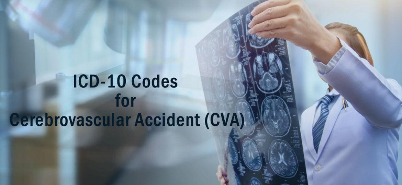 Cerebrovascular Accident, ICD-10 codes for CVA, Symptoms of CVA, Treatment for CVA, causes of CVA, Cerebral infarction